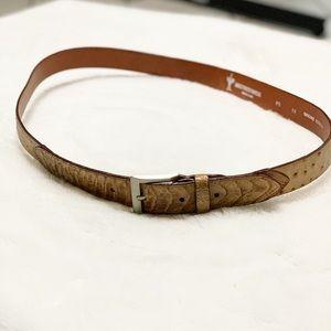 Avestruces Marjal Orchid Men's Cowboy Leather Belt